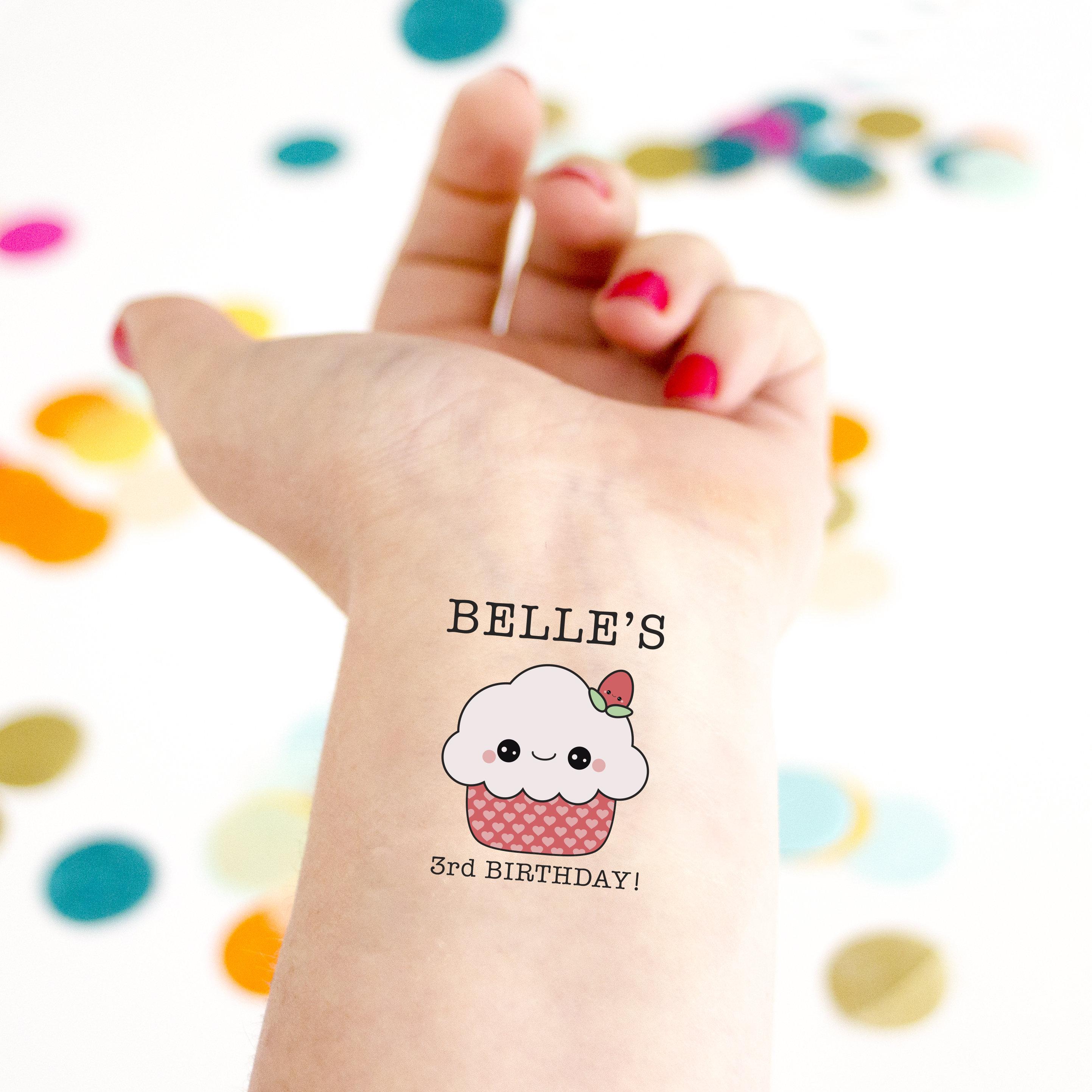 Cupcake Temporary Tattoos Kid birthday kid tattoo Party   Etsy