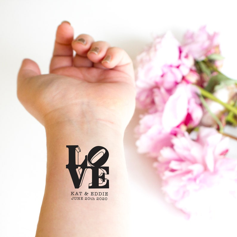 Love Sculpture Temporary Tattoos Pack of Custom Tattoo | Etsy