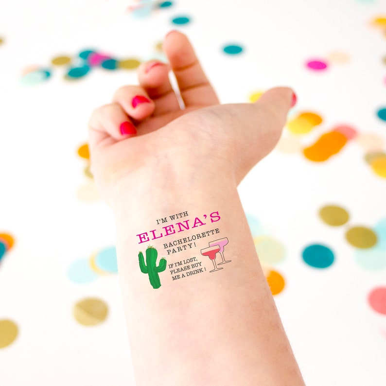 Mexican Bachelorette Party Temporary Tattoos If Lost Buy Me | Etsy