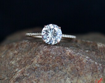 18e94fc860bb Forever One Moissanite   Diamond Engagement Ring