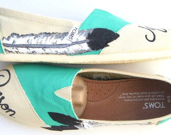 The Beson - Teal and Cream Custom Wedding TOMS
