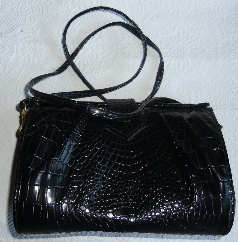 9807a67441 Vintage Designer Handbag Chenson Black Clutch or Shoulder