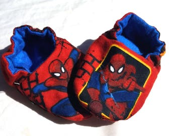 Baby Shoes Booties Boy - Spiderman