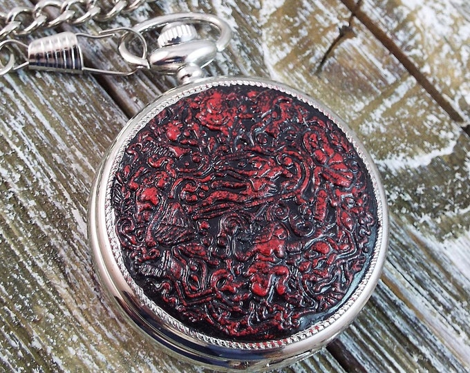 Harem Steampunk Silver Pocket Watch - Raja