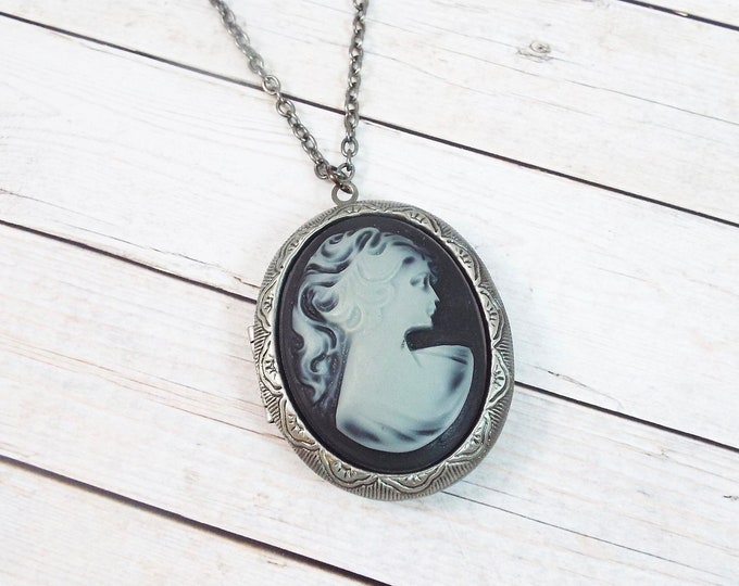 Ghostly Lolita Victorian Goth Photo Locket