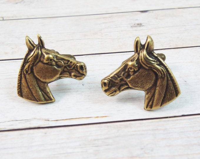 Horse Rancher Bronze Cufflinks