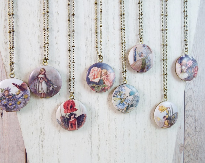 Birth Month Flower Fairies Photo Locket