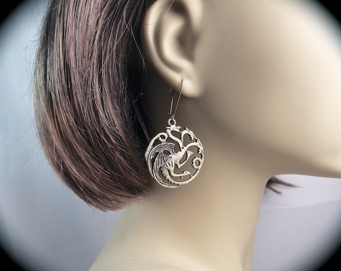House Targaryen Sigil Earrings - The Three-Headed Dragon -