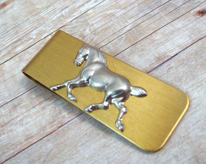 Horse Money Clip - Western Ranch - Men's Accessorries by Split Personality