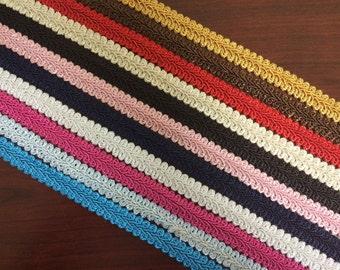 "5/8"" French Gimp Braid Trim Ribbon Scrapbooking Wedding Decoration 12 Colors"