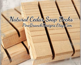 Cedar Soap Savers Dishes Decks 111 pieces Wholesale Pricing Standard size