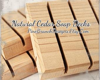 Cedar Soap Decks 100 pieces Wholesale Pricing Standard size 3x2.5