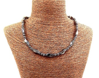 Necklace Hematite || Magnetic Therapy || Triple POWER Hematite Magnetic Necklace || Super Strong Clasp || Gift Tag and Bag Included