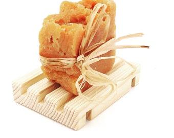 Western Cedar Wood XL Wide Grooves EZ Drain Soap Dishes || Soap Decks || 100 pieces || Soap Rafts || Soap Pallets || Wholesale Pricing