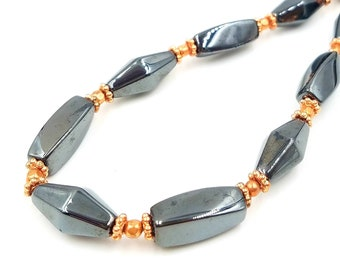 Magnetic and Copper Necklace || Super Strong Magnetic Beads and Therapy Strength Neodymium Clasp || Triple POWER Hematite || Health Wellness