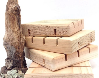 600 SQUARE Cedar Natural Wood Spa Soap Dish 3x3 custom sizing available Bulk Pricing - No Discount codes, please.
