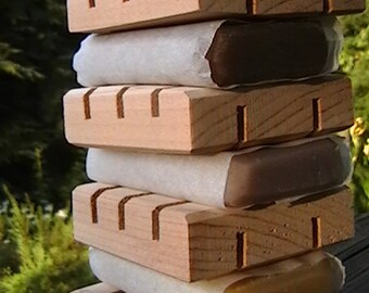 20 MINI Cedar Natural Wood Spa Soap Dishes || Make-Your-Own Gift Set || Wedding || Baby Shower || Bed and Breakfast || Rustic Wedding Favor
