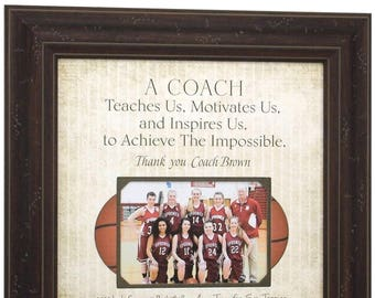 Basketball Coach Gift, Soccer Coaches Gifts, Softball Coach Gift, Basketball Coaches Gift, Gift for Basketball Coach, Gift for Coach, 16x16