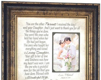 Parents of the Bride Gift from Groom, Mother of the Bride Gift from Groom, Parents of the Bride Gift, Wedding Gift for In Laws, 16x16