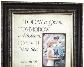Wedding Gift for Parents, Parents of the Groom Gift, Parents Wedding Gift, Mother Of The Groom Gift, Today A Groom, 16x16