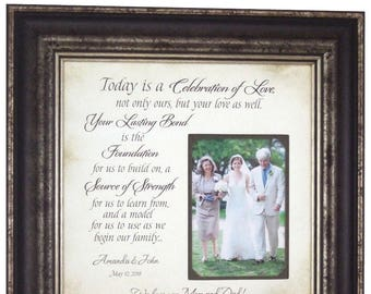 Personalized Wedding Gifts, Father of The Bride Gift, Mother of The Bride Gift, 16 X 16
