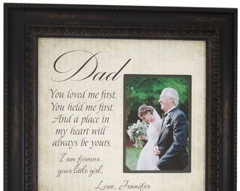 Dad Gifts, Gift from Bride, Father Gifts, Father Wedding Gift, Wedding Gift for Dad, Father of the Bride Gift, Father Daughter Gift, 16x16