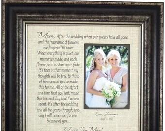 Rustic Wedding Gift, Burlap Wedding, Burlap Decorations, Rustic wedding cake topper, Rustic Wedding, Burlap Wedding Gift for Mom,  16 X 16