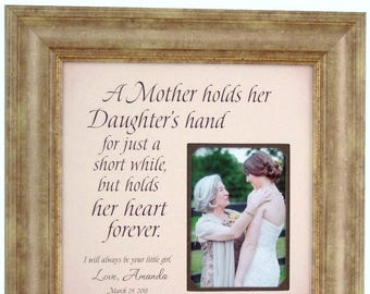 Personalized Wedding Gift for Mom from Daughter, Mother of the Bride GIft, Wedding Gift Mom Daughter, 16x16