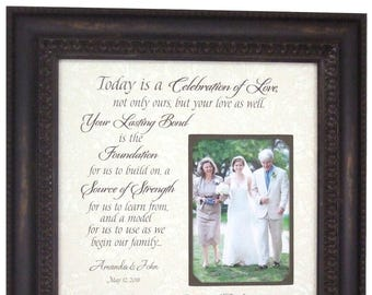 Wedding Gift For Parents, Parents Wedding gift, Today Is A Celebration, Father of the Bride Gift, Parents Wedding Thank You Gift, 16x16