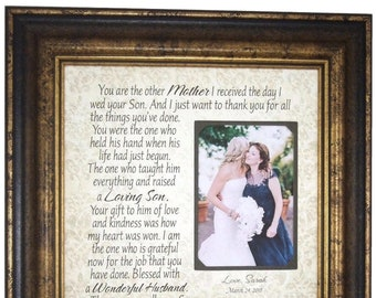 Wedding Gift Parents, Bride Gift to Parents, In-laws Gift, Gift to In Laws, Groom Wedding Gift to Mom and Dad, Personalized Frame, 16x16