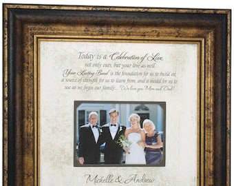 Bride Gift to Parents, In-Laws WEDDING GIFT, PARENTS Gift, Groom Wedding Gift to  Mom and Dad, Wedding Personalized Picture Frame, 16x16