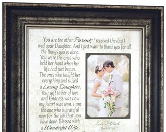 Wedding Gift for In Laws, Parents of the Bride Gift from Groom, Mother of the Bride Gift from Groom, Parents of the Bride Gift, 16x16