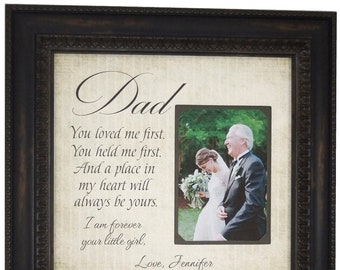 Father of the Bride Gift from Bride, Wedding Gift for Dad, dad handkerchief, Father Wedding Gift from daughter, Father Daughter Gift, 16x16