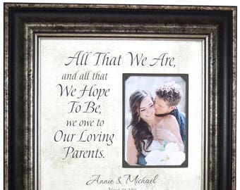 Wedding Gifts Parents, Father of The Bride Gift, Mother of The Bride Gift, 16 X 16