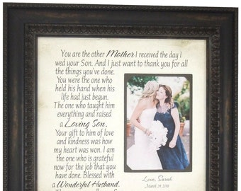 Mother of the Groom Gift from Bride, Wedding Gift for In Laws, Mother of the Groom Gifts, Parents of the Groom Gift from Bride, 16x16