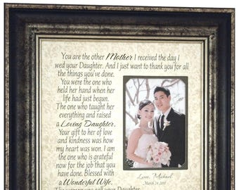 Wedding Gift for In Laws, Mother of the Bride Gift from Groom, Mother of the Groom Gift from Bride, Mother of the Bride Gifts, 16x16