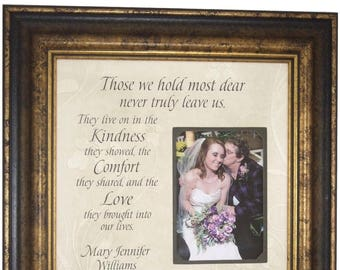 In Memory Of Gift, In Memory Of Mom, Sympathy Gift, Remembrance Gift, In Memory of Dad, Wedding Memorial, Loss of Father, 16X16