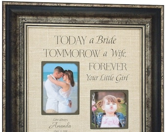 Personalized Wedding Gifts For Parents, Father of The Bride Gift, Mother of The Bride Gift, 16x16
