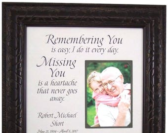 In Memory, In Memory Of Gift, In Memory of Dad, In Memory of Mom, Remembering You, Memorial Gift for Wife, Memorial Gift for Husband, 16x16