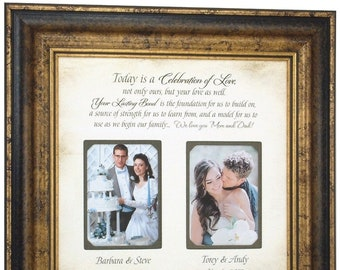 Personalized Wedding Gift for Parents, Today Is A Celebration, Parents Gift, betteroffwed, Parent of the bride, Parents of the Groom, 16X16