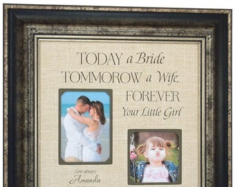 Personalized Wedding Gift for Parents, Father of the Bride Gift, 16x16
