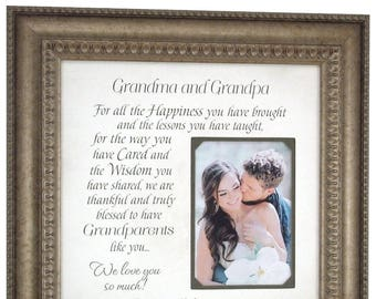 Grandmother Gift, Personalized Wedding Grandparents Gift, Wedding Gift for Grandparents, Grandparents Thank You Gift, 16x16