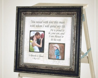 Parents of the Groom Gift, Mother of the Groom Gift, Personalized Wedding Gift for In Laws, 16x16