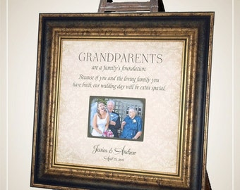 Grandparents Wedding Thank You Gift, Wedding Gift for Grandparents, 16x16