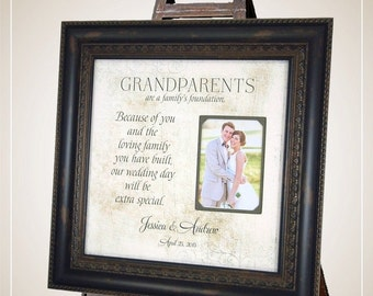 Wedding Thank You Gift for Grandparents, grandparents wedding gift, Grandmother Gift, Grandfather Gift, 16x16