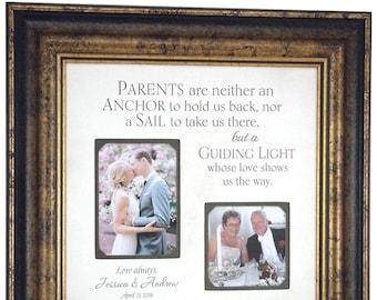 Wedding Gift for parents, Parents Wedding Frame, Mom Dad Wedding Gift, 16x16