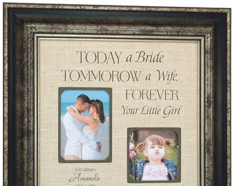 Father Of The Bride Gift, Personalized Wedding Photo Frame for Dad, 16x16
