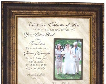 Parents of the Bride, Parents of the Groom Wedding Gift, Personalized Wedding Frame, 16x16