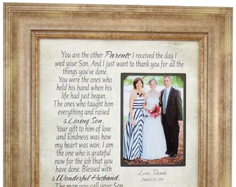 Wedding Gift for In Laws, Mother of the Groom Gifts, Parents of the Groom Gift from Bride, Mother of the Groom Gift from Bride, 16x16