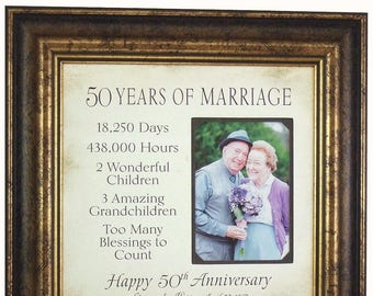 Parents Anniversary Gift, 50 Years of Marriage Anniversary Gift, 50th Anniversary Gift for Parents, 50th Anniversary Grandparents, 16x16